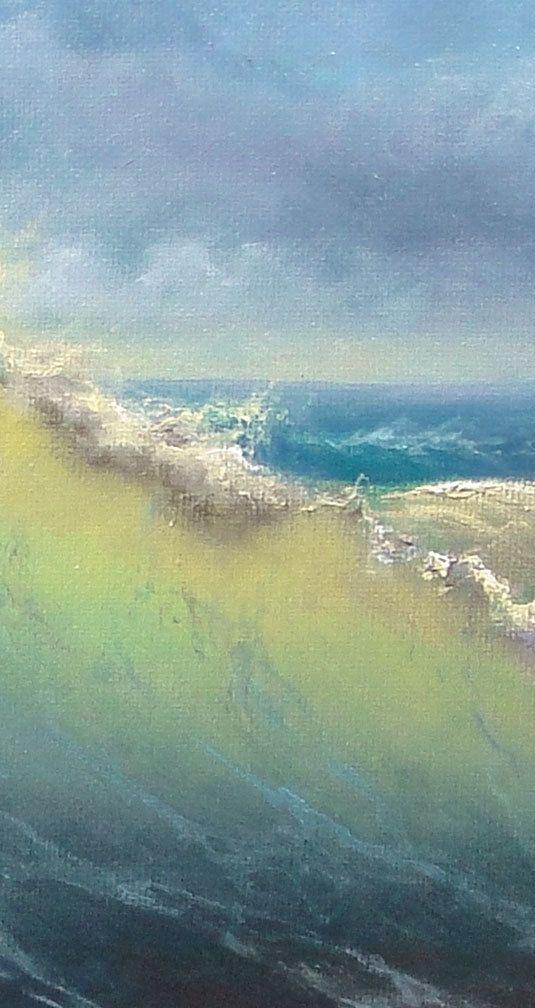 197 Stormy Surf 16x 20 Gallery Wrap от vladimirmesheryakov