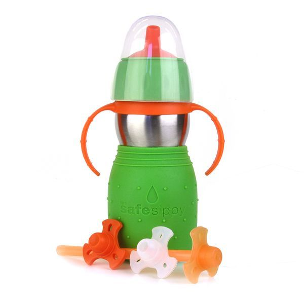 safe sippy green