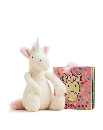 12.60$  Buy now - http://viphk.justgood.pw/vig/item.php?t=y1588g364 - Jellycat Medium Bashful Unicorn & If I Were a Unicorn Book - Ages 12 Months+ 12.60$