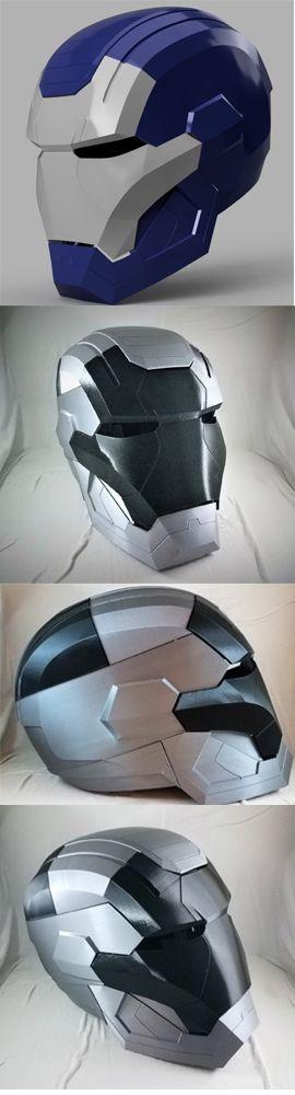 Iron Patriot Helmet (Iron Man) designed by Killonious