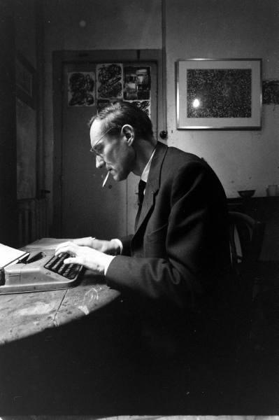 Beat author William Burroughs in Paris 1959