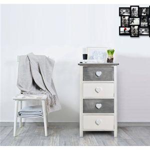 Mobiletto shabby chic con raffinati pomelli in rilievo a forma di cuore. Perfetto per qualunque ambiente della zona giorno, per il bagno o la camera da letto.  #shabby #chic #furniture #home #house #design #interior #interiors #restyling #style #makeover #vintage #retro #white #wood #beige #grey #tutorial #idea #ideas #diy #black #friday #blackfriday #cyber #monday #cybermonday #sale #sales #sconti #mobili #arredamento #mobiletto #mobiletti #living #room