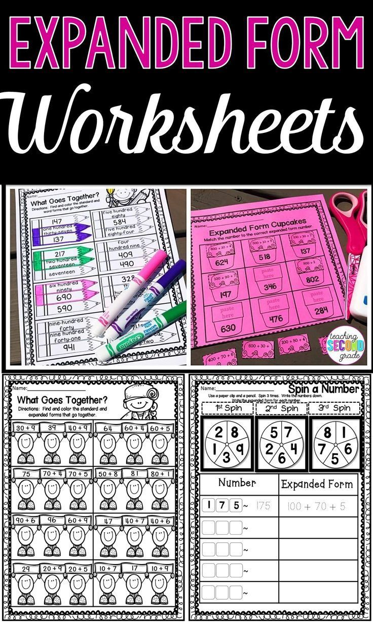 Expanded Form Worksheets Use These No Prep Printables With Your 1st 2nd And 3rd Grade Classroom Or Hom Expanded Form Worksheets Expanded Form Learning Math