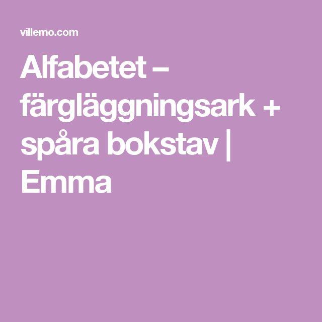 Alfabetet – färgläggningsark + spåra bokstav | Emma
