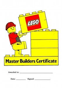This blog has cute games for a Lego party.  Present winner of each game with this certificate.