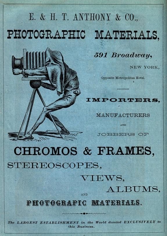 1870 advertisement for E& HT Anthony & Co. Antique and Classic Cameras