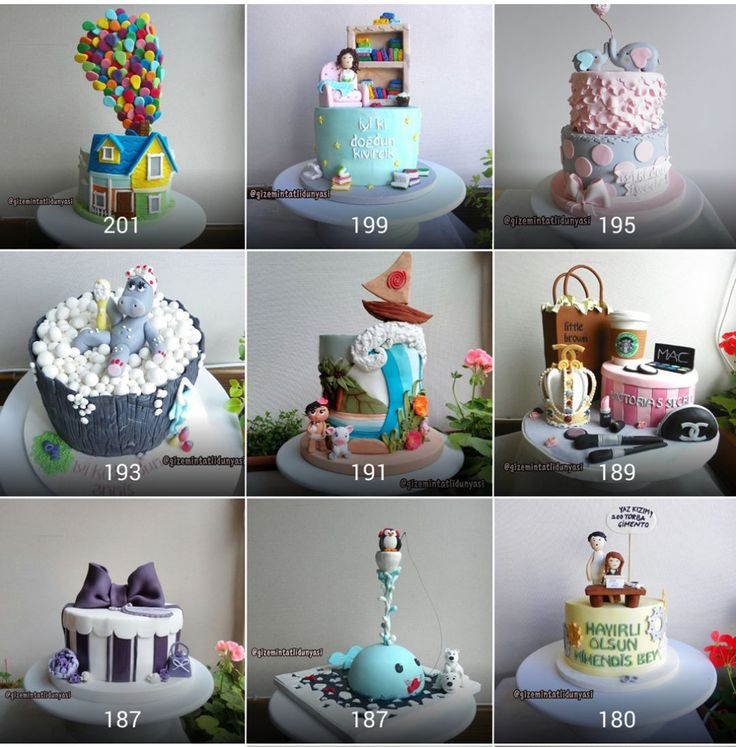 """303 Beğenme, 6 Yorum - Instagram'da Butik Pasta / Kurabiye🍪🍰 (@gizemintatlidunyasi): """"En çok sevilenler🎂💕💕#cakes #fondantcakes"""""""