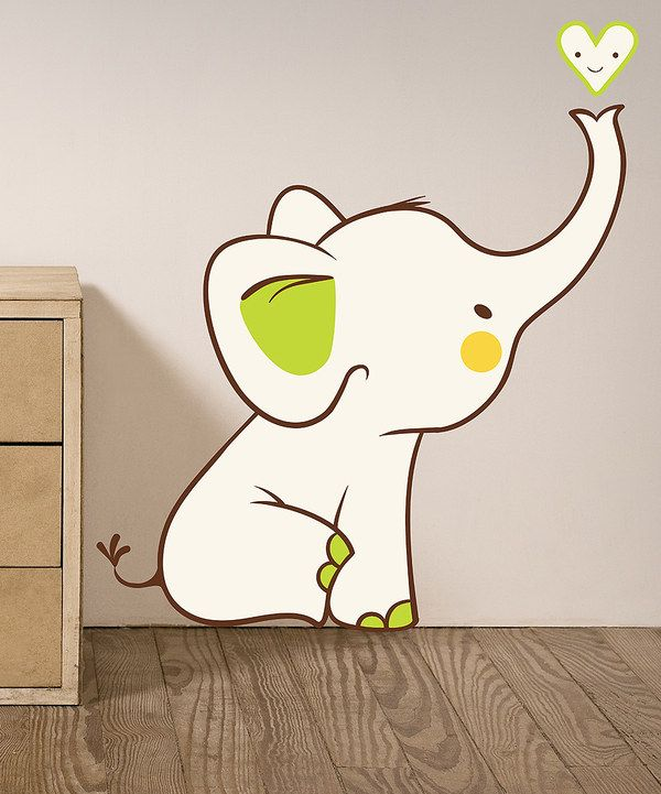 Take a look at this Baby Elephant Reusable Wall Decal on zulily today!