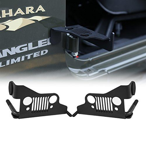 Cartaoo Foot Pegs Solid Steel Black Front Rest Kick Panel for 2007-2016 Jeep Wrangler JK & Unlimited (2pcs in 1pack) (Grill Style)  * USAGE: Provide a Comfortable Spot to Place your Foot While Running around with the Doors Removed. Anti-skid Surface Keeps your Feet from Slipping Off Pegs, Especially in Muddy and Wet Conditions  * MATERIAL: Foot Pegs Made of Heavy Duty Casting iron, Anti-Corrosion and Not Easy to Rust, Super Durable For Long Time Using,Work Well In Even Extreme Whether ...