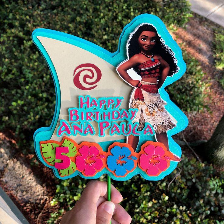 Moana cake topper, custom cake topper, luau birthday party