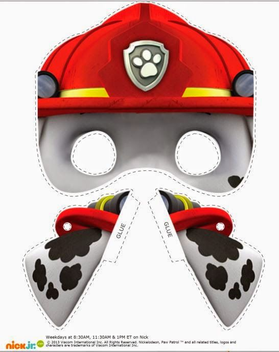 Paw Patrol Free Printable Masks and Ears. | Oh My Fiesta! in english