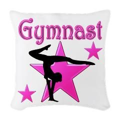 This beautiful graceful Gymnast pillow would make a lovely accent in every Gymnast's room. More great Gymnast's gifts at www.cafepress.com/SportsStar
