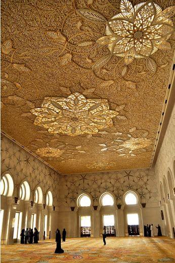 планета Земля– Сообщество– Google+Деталь потолка из Абу-Даби большая мечеть