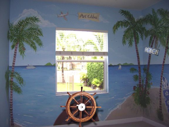 Tropical Beach Mural- South Florida