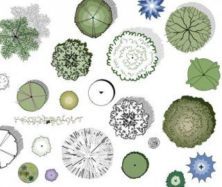 Symbols landscapes and landscape design on pinterest for Landscape design icons