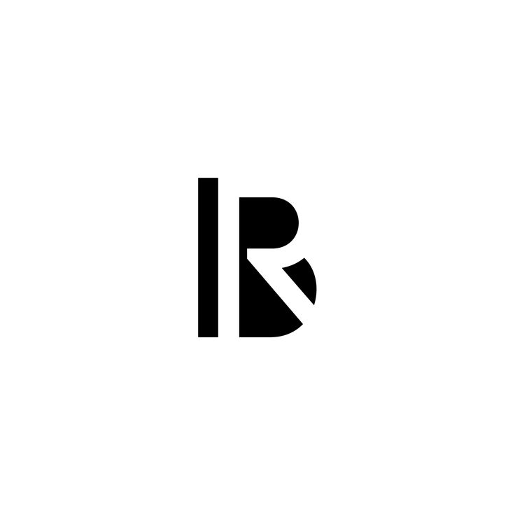 logotype using capitals B & R in negative space.  Made by Marcus Råbratt  #negativespace #minimalistic #logo