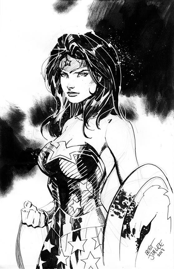 """WONDER WOMAN •Jim Lee ❁❁❁Thanks, Pinterest Pinners, for stopping by, viewing, pinning,  following my boards.  Have a beautiful day! ❁❁❁ ****✮✮""""Feel free to share on Pinterest""""✮✮"""" #comics  #gifts www.unocollectibles.com"""