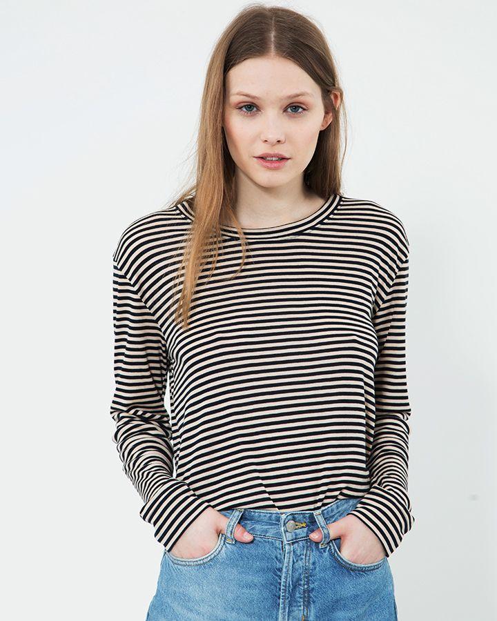 Questa Stripe Tee - Moss Copenhagen