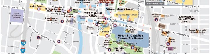 San Antonio Maps - San Antonio is perfect for walkers! Here is a map of easy routes around the city. The weather is perfect year-round for walking, hiking, biking or running. Come visit beautiful San Antonio!