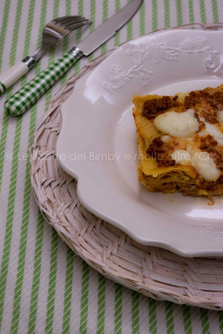 Le ricette del bimby e....molte altre! *CRI*: LASAGNA DI ZUCCA E CURRY CON RAGÙ DI CONIGLIO