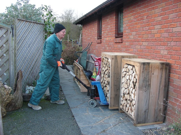 Large Log Store And Wood Storage. All Custom Log Store Designs, The Smart  Way To Store Your Logs For Wood Burners. Seasoned Logs For Sale.