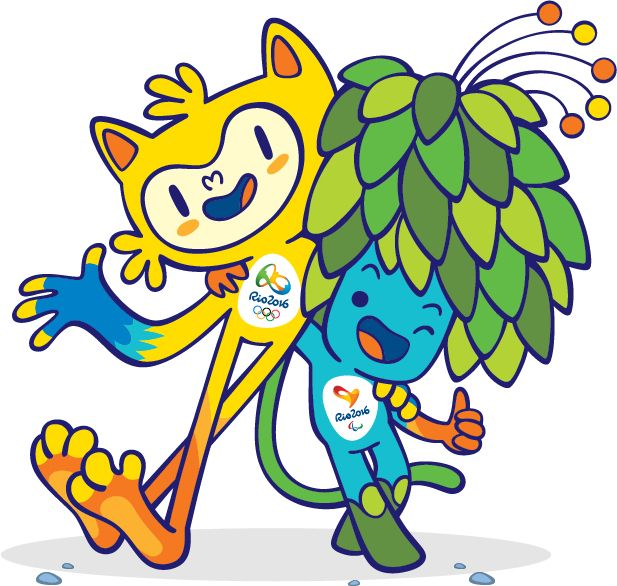 Meet the Official Rio 2016 Olympic and Paralympic Games Mascots. The yellow character is the olympics and the other is for the Paralympics. The olympic mascot is a mixture of Brazilian animals while the other is a mixture of Brazilian plants. The names will be revealed in December 2014. Go to the mascot website for rio 2016 to vote for the names!!! Love the designs