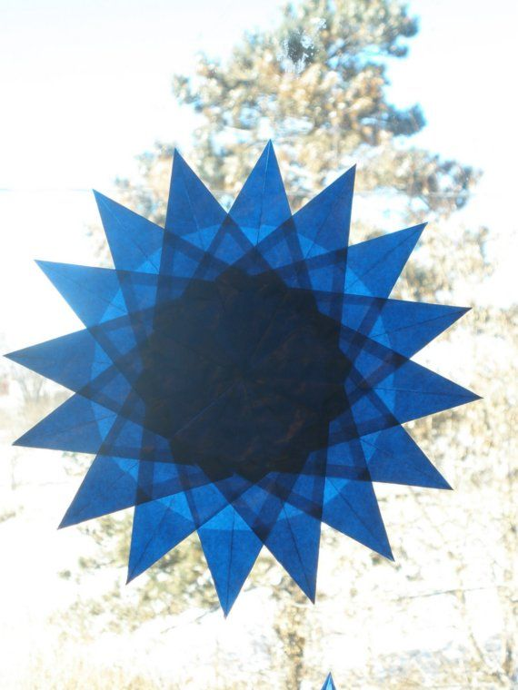 16-Pointed Blue Waldorf Window Star
