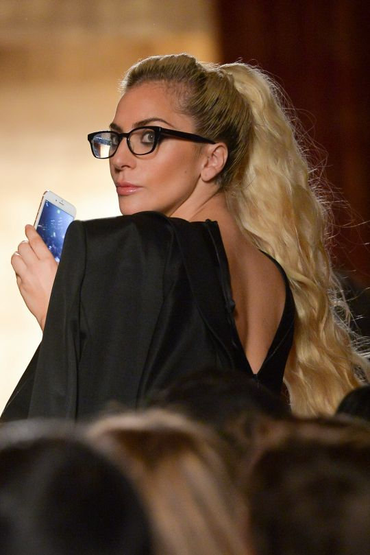 Lady Gaga attends the Brandon Maxwell fashion show  New York Fashion Week September 2016.