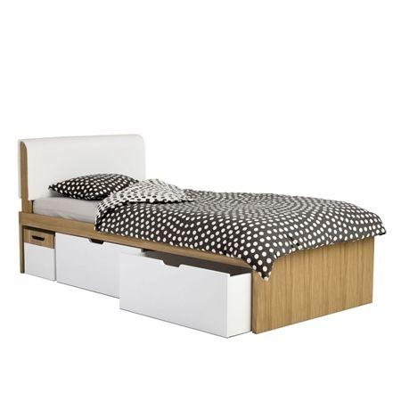 Zdjęcie Łóżko VOLLEYBOX z szufladami i stolikiem nocnym