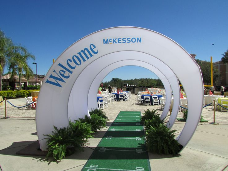 Spandex Arch Entrance Into Sports Themed Event With
