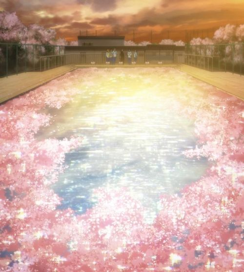 """""""you said you waned to swim in a pool of cherry blossoms"""" This was the sweetest most beautiful thing ever and I basically wanted to cry. Free! Eternal Summer"""