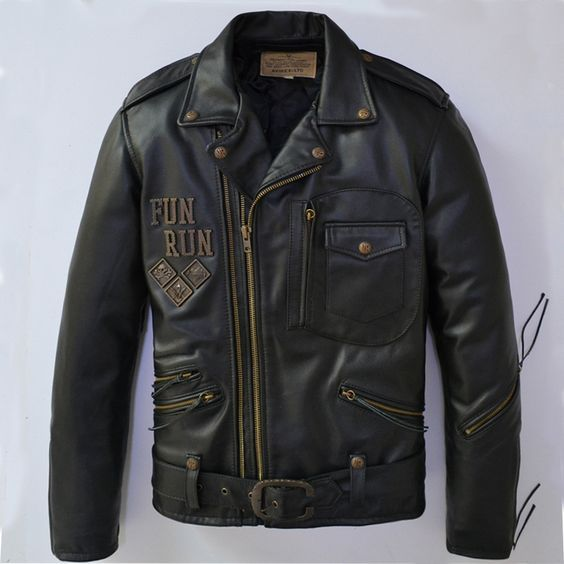 Find More Information about Free Shipping 2015 New Men Leather Jacket Black Turn down Collar Diagonal zipper 100% Genuine Cow Skin Leather Men Winter Jacket,High Quality jacket waistcoat,China jacket trouser Suppliers, Cheap jacketed flask from Ye Leather World on Aliexpress.com: