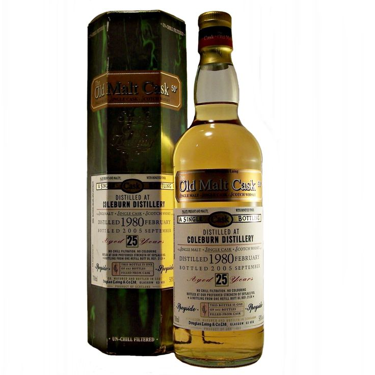 Coleburn 25 year old 1980 Single Malt Whisky closed distillery available to buy online at specialist whisky shop whiskys.co.uk Stamford Bridge York