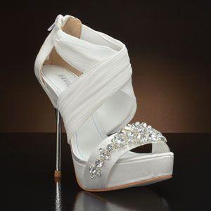 DAVID TUTERA BOUQUET Wedding Shoes and BOUQUET Dyeable Bridal Shoes WHITE, IVORY: