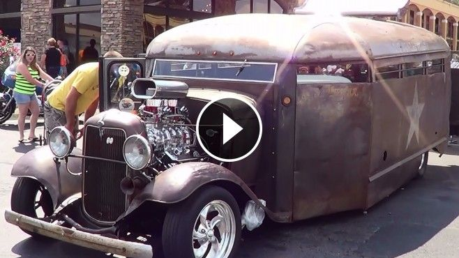 """1932 North Carolina Prison Bus """"Rat Rod Prison Bus"""" - Not only is this one cool Bus...it has a cool...kinda spooky story behind it...check it out!!"""