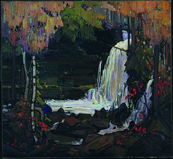 Woodland Waterfall by Tom Thompson - Group of Seven