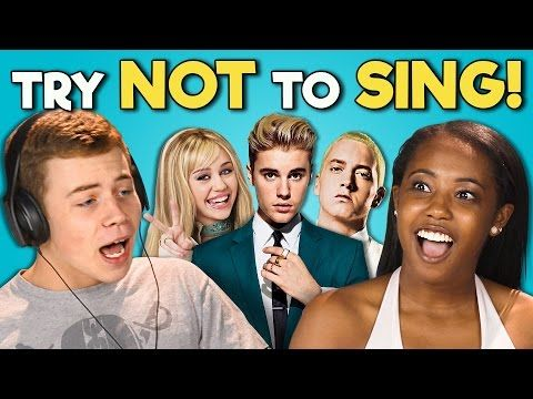 TEENS REACT TO TRY NOT TO SING CHALLENGE - YouTube