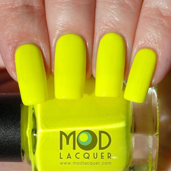 NEW! Voltaic Neon Yellow Nail Polish 12ml - Electrified Collection