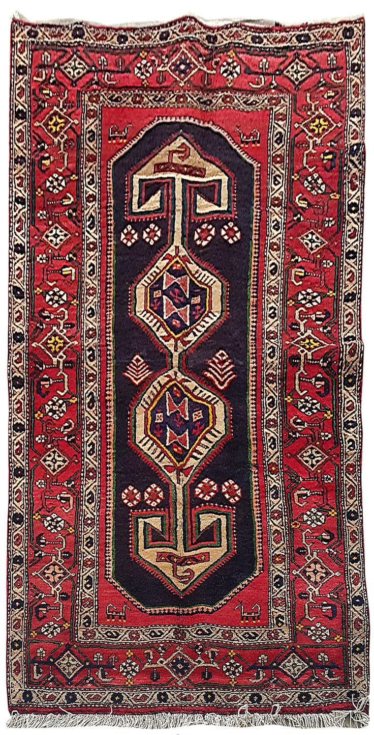 Handmade Rug 4' x 8' Persian Hamadan Made of Wool Cheap Rugs for Sale