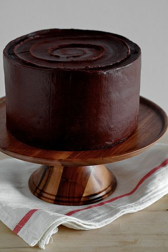 Best Birthday Cake- Yellow Layer Cake with Chocolate Sour Cream Frosting