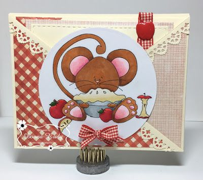 """ONECRAZYSTAMPER.COM: Comfort Food And A Tutorial by Donna using High Hopes Stamps - """"Apple Pie Mouse"""" (SS024)"""