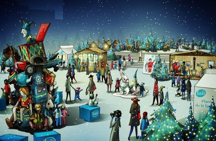 Marché de Noël de Montréal. Christmas market in Montreal.