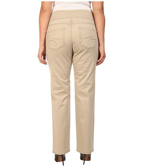 Jag Jeans Plus Size Plus Size Peri Pull On Straight Jeans in British Khaki British Khaki - Zappos.com Free Shipping BOTH Ways