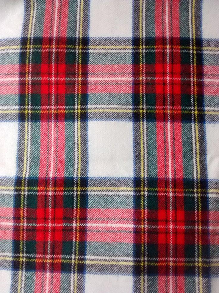 VINTAGE TARTAN FABRIC - Dress Stewart - Medium Weight - 100% wool by Puddledub on Etsy