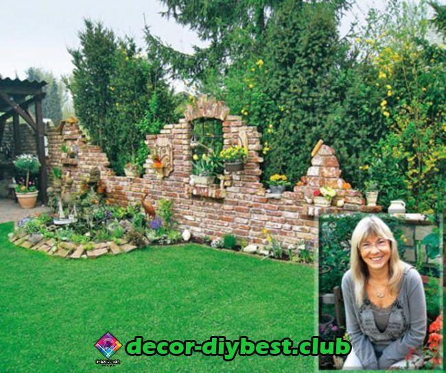 Garten (mit Bildern) Steinmauer garten, Sichtschutz