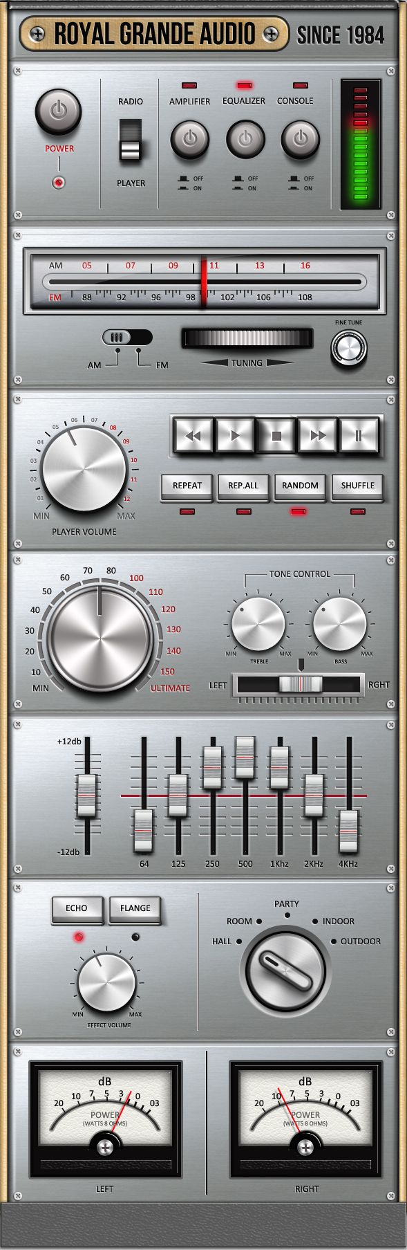 Very OLD Audio Set UI by Anchor_point_heshan (via Creattica)