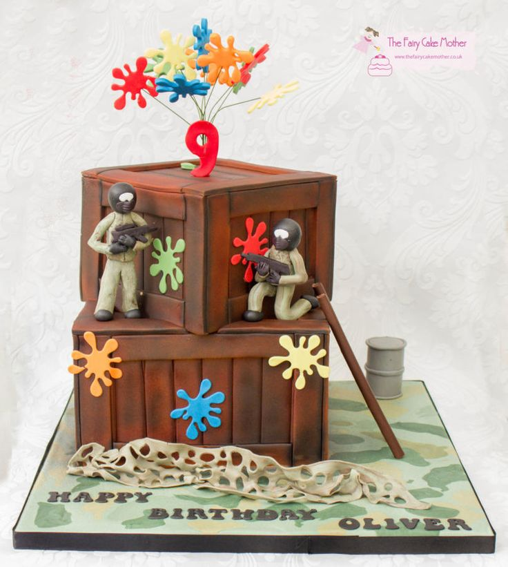 Paintball ....Splat! - Cake by The Fairy Cake Mother