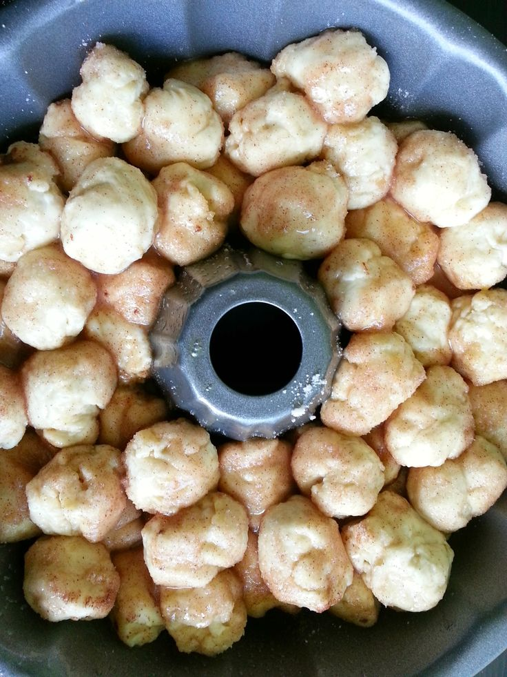 PUMPKIN SPICE MONKEY BREAD PUMPKIN SPICE SWEET DOUGH INGREDIENTS 5 cups flour 1 package active dry yeast, or 2 teaspoons active dry yeast 2 eggs ¼ cup warm water ¼ cup sugar ⅓ cup melted butter 1 ¼ cup milk pinch of salt  PUMPKIN SPICE MONKEY BREAD INGREDIENTS 1 sweet dough ball (from above) …