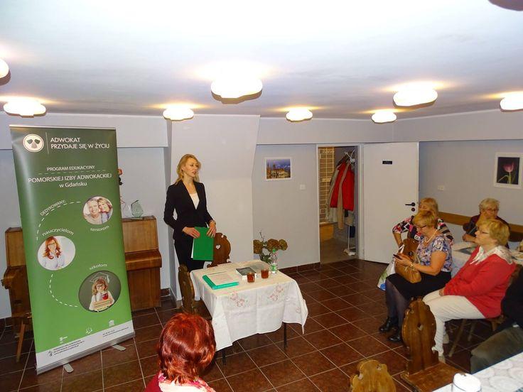 Mecenas Kapała-Sokalska podczas szkolenia z zakresu prawa spadkowego. Szkolenie odbyło się w ramach Programu Edukacyjnego Pomorskiej Izby Adwokackiej w #Gdańsk.u pod nazwą: #Adwokat przydaje się w życiu. #edukacja #prawo #spadki