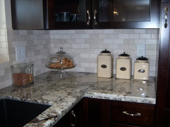 crema marfil tumbled marble backsplash photo this photo